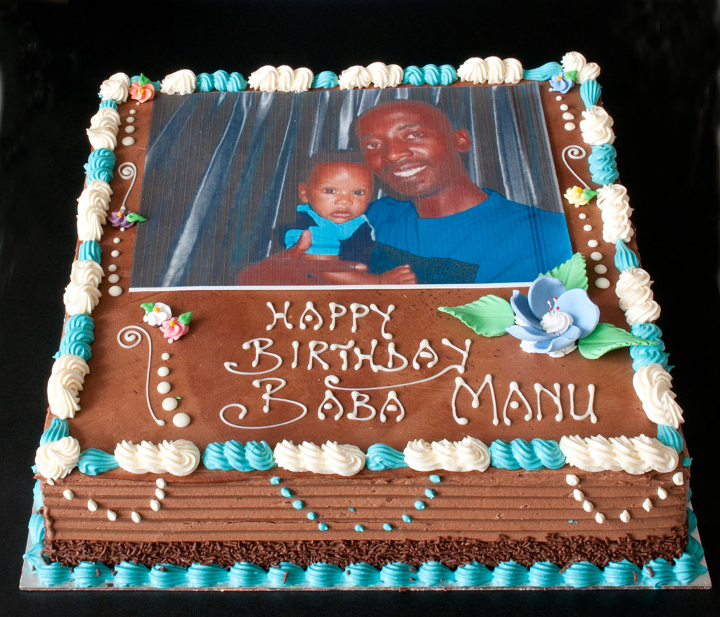 Chocolate Buttercream with rice paper picture