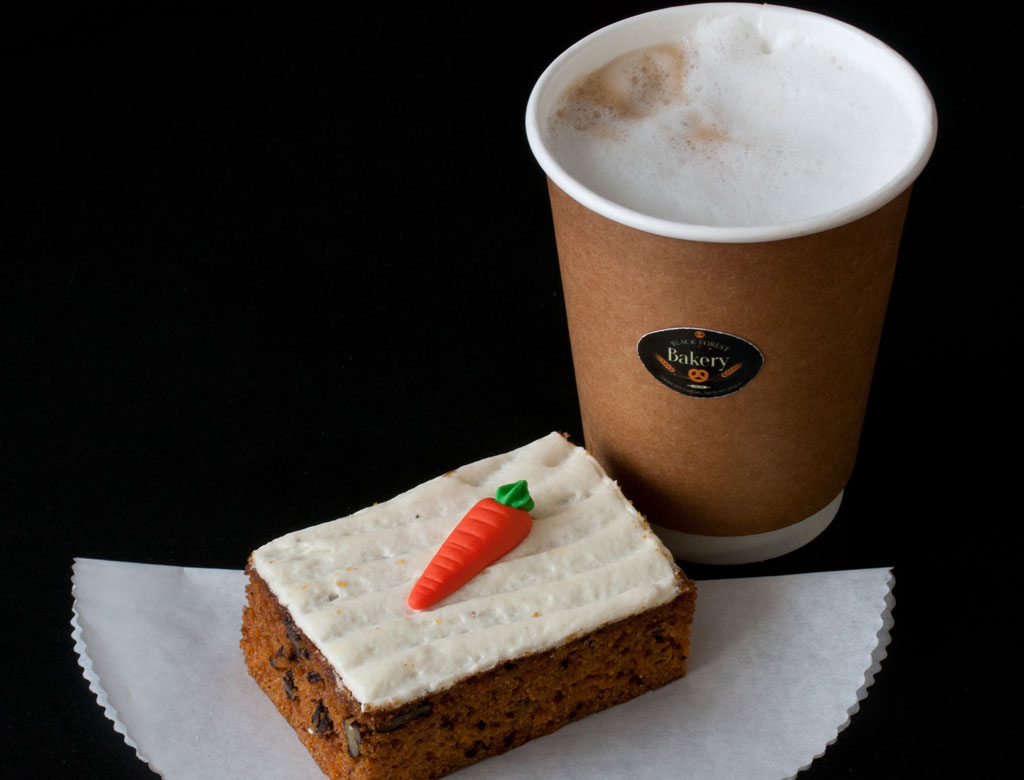 Carrot Slice with Coffee